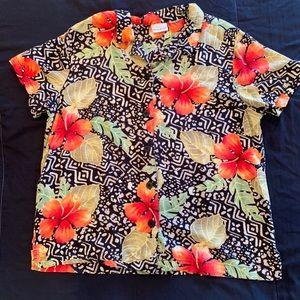 Vintage Hawaiian floral button shirt